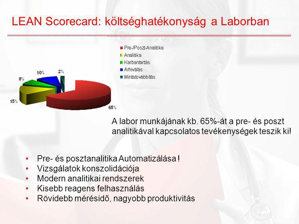 LEAN Scorecard: költséghatékonyság a Laborban