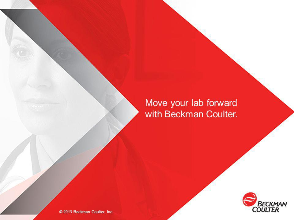 Move your lab forward with Beckman Coulter.