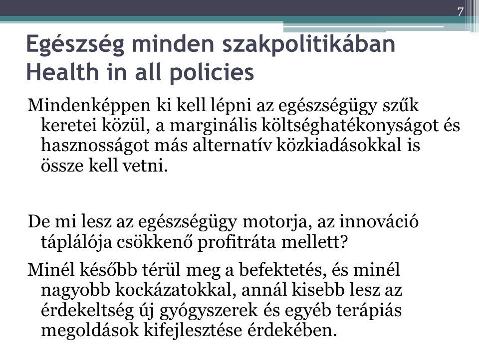 Egészség minden szakpolitikában Health in all policies