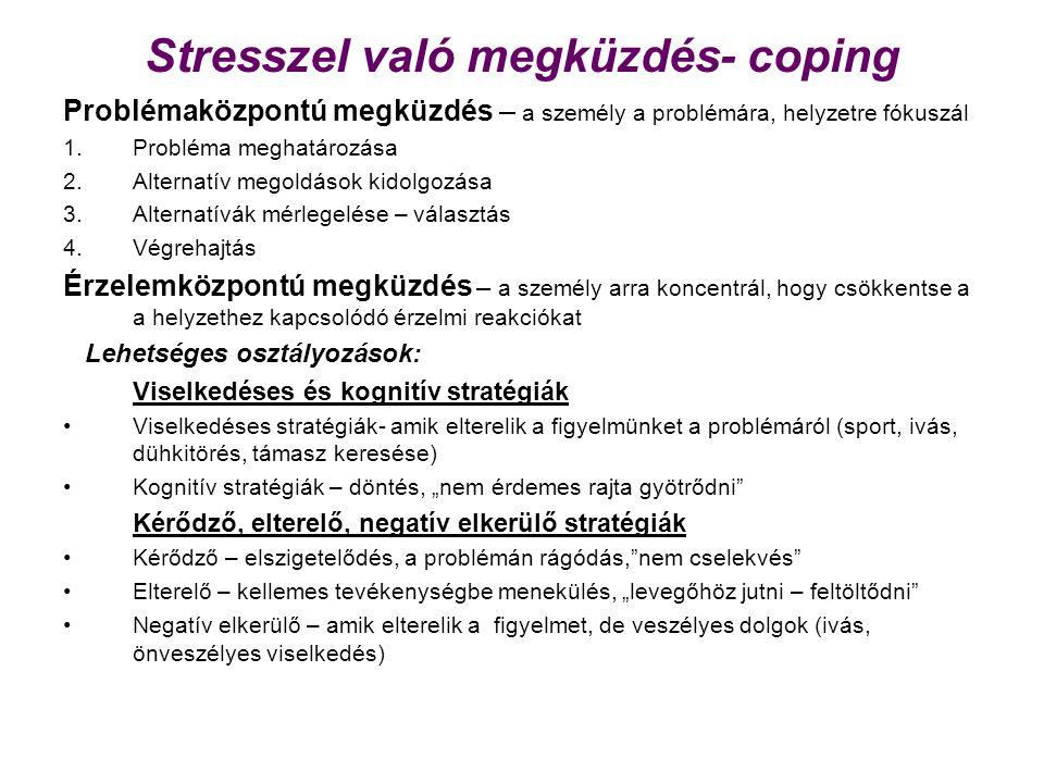 Stresszel való megküzdés- coping