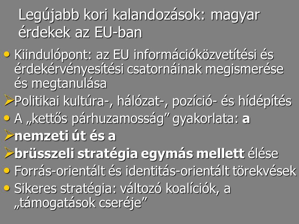 Legújabb kori kalandozások: magyar érdekek az EU-ban