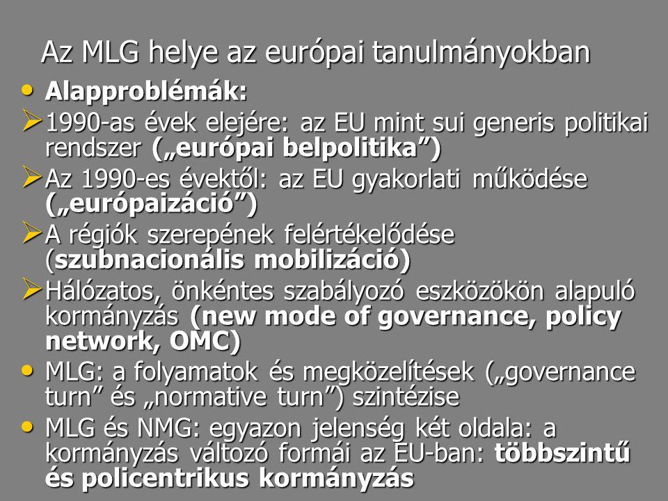 Az MLG helye az európai tanulmányokban
