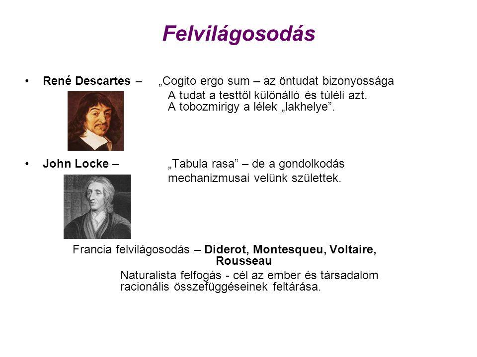 """Felvilágosodás René Descartes – """"Cogito ergo sum – az öntudat bizonyossága."""
