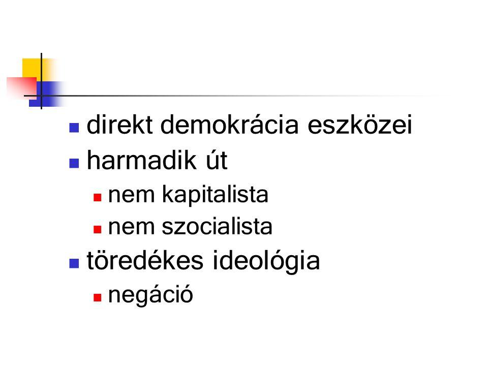 direkt demokrácia eszközei harmadik út