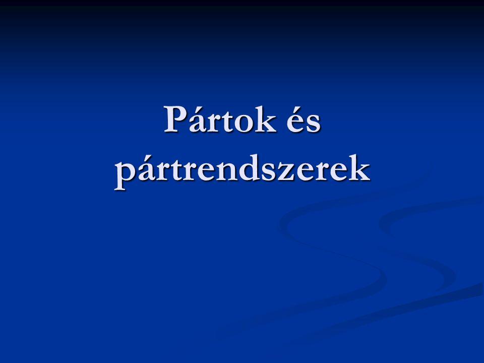 Pártok és pártrendszerek