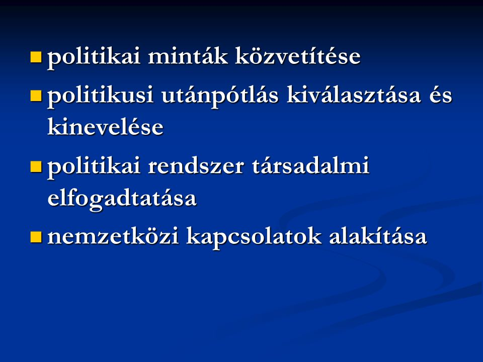 politikai minták közvetítése