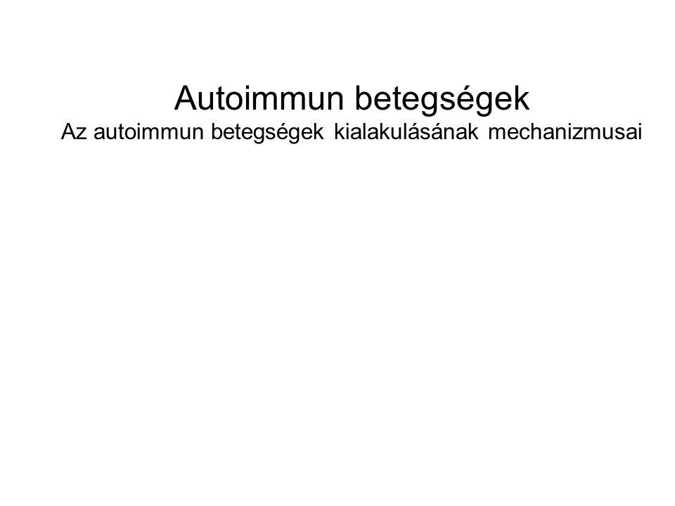 Az autoimmun betegségek kialakulásának mechanizmusai