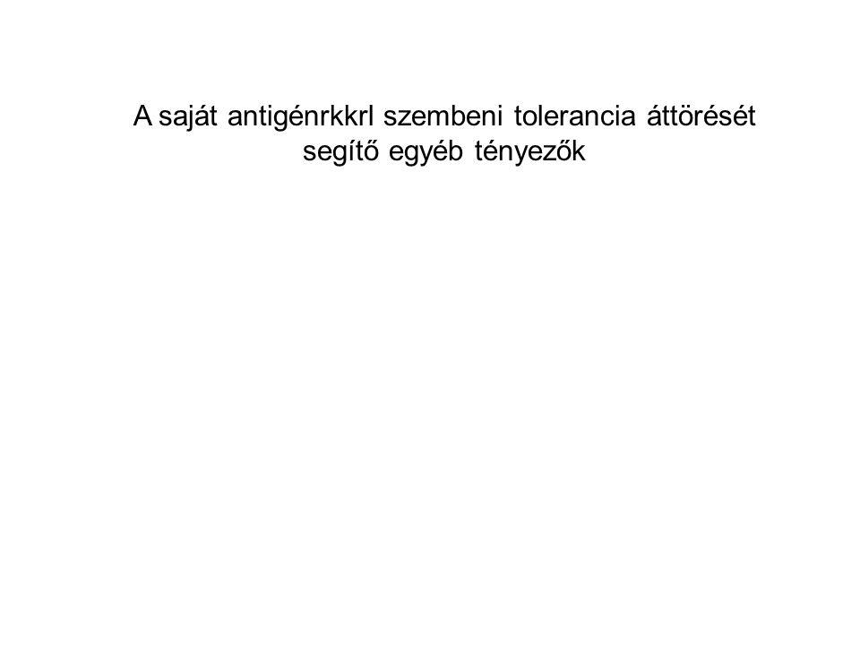 A saját antigénrkkrl szembeni tolerancia áttörését segítő egyéb tényezők
