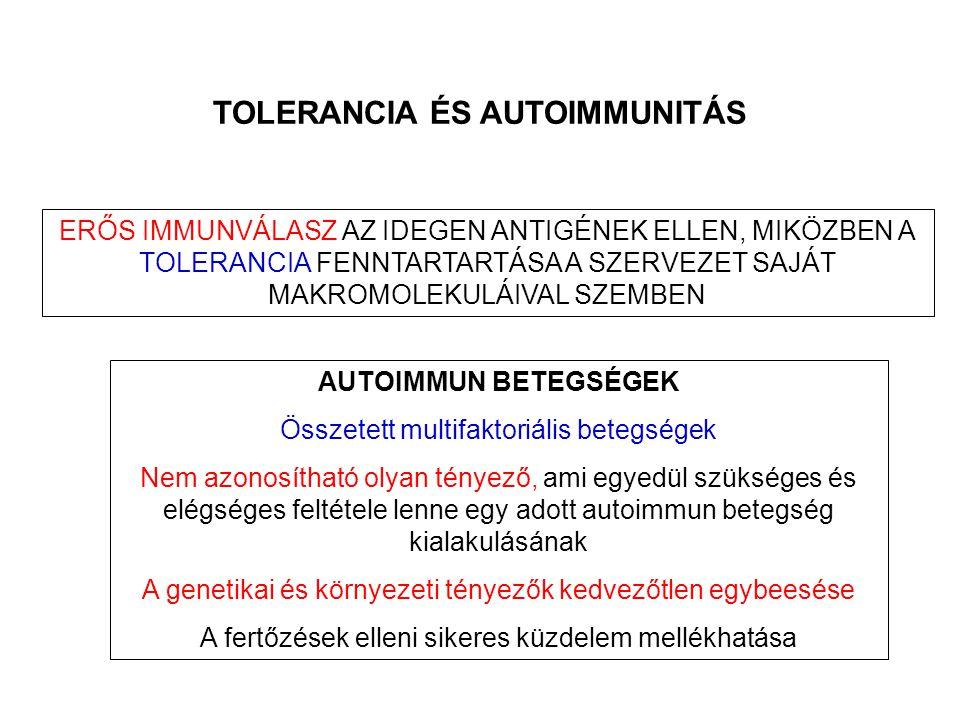 TOLERANCIA ÉS AUTOIMMUNITÁS
