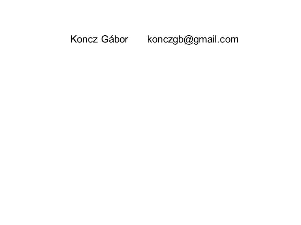 Koncz Gábor konczgb@gmail.com