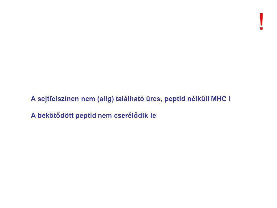 ! A sejtfelszínen nem (alig) található üres, peptid nélküli MHC I