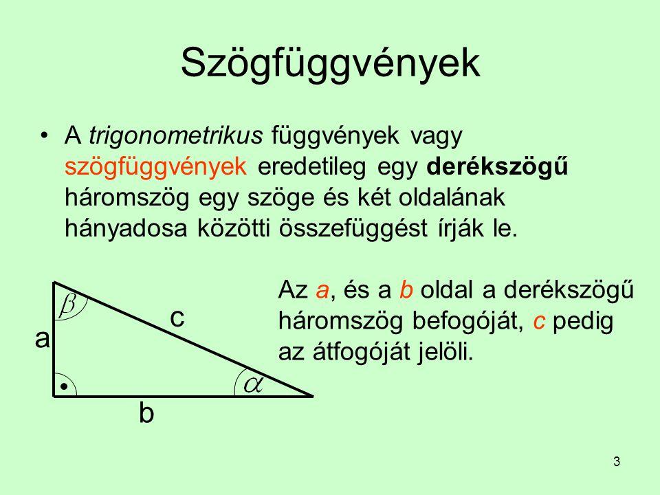 Szögfüggvények