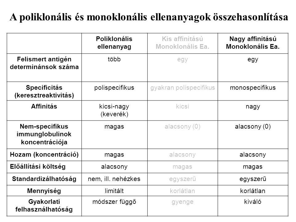 A poliklonális és monoklonális ellenanyagok összehasonlítása