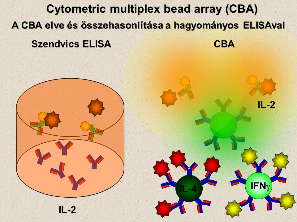 Cytometric multiplex bead array (CBA)