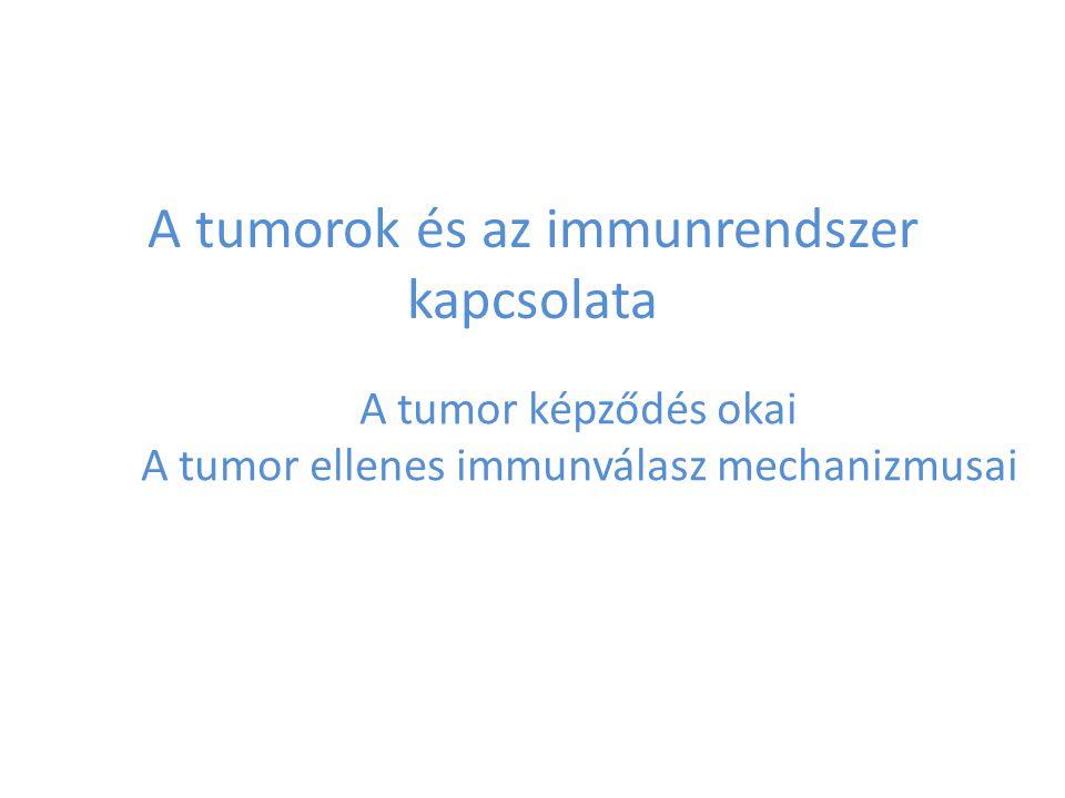 A tumorok és az immunrendszer kapcsolata