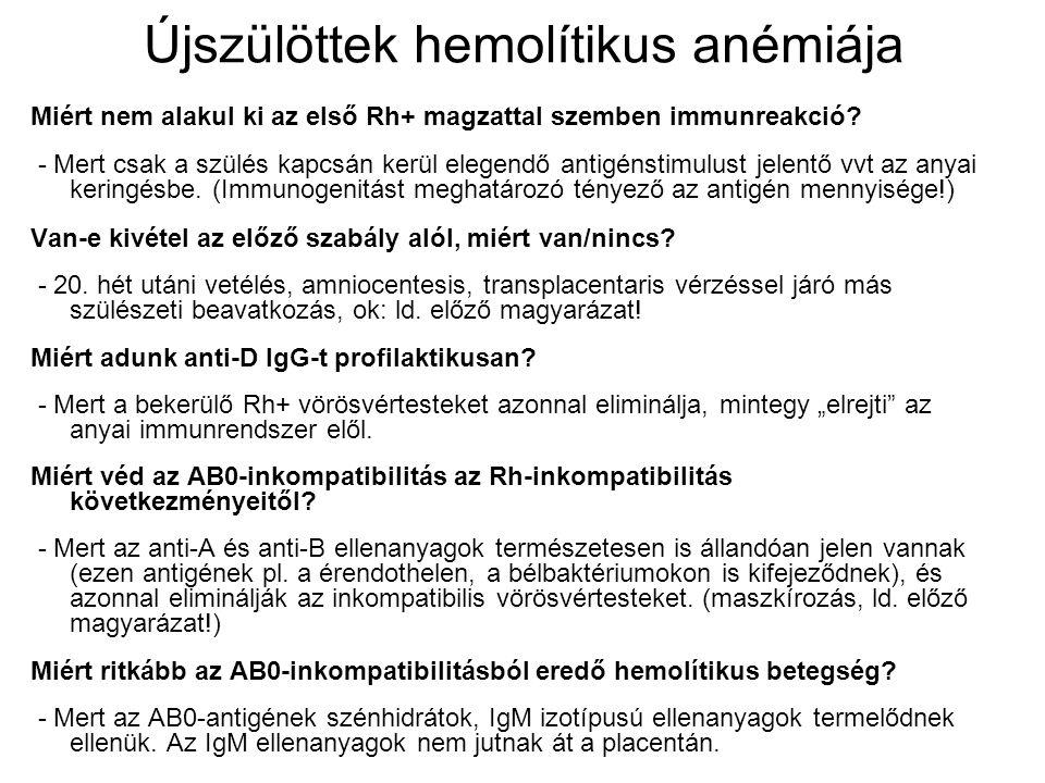 Újszülöttek hemolítikus anémiája