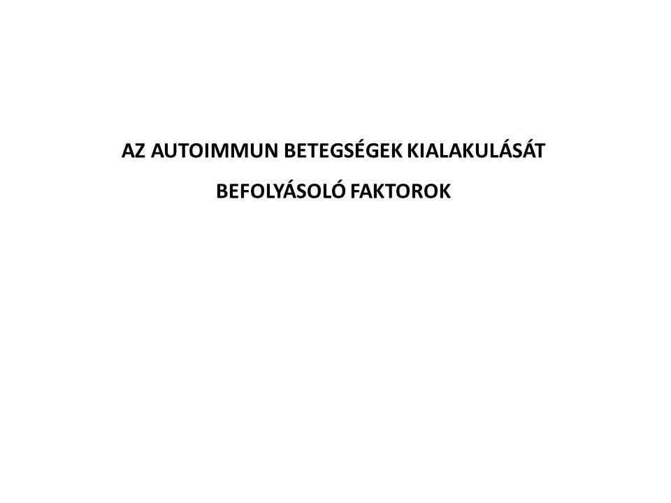 AZ AUTOIMMUN BETEGSÉGEK KIALAKULÁSÁT