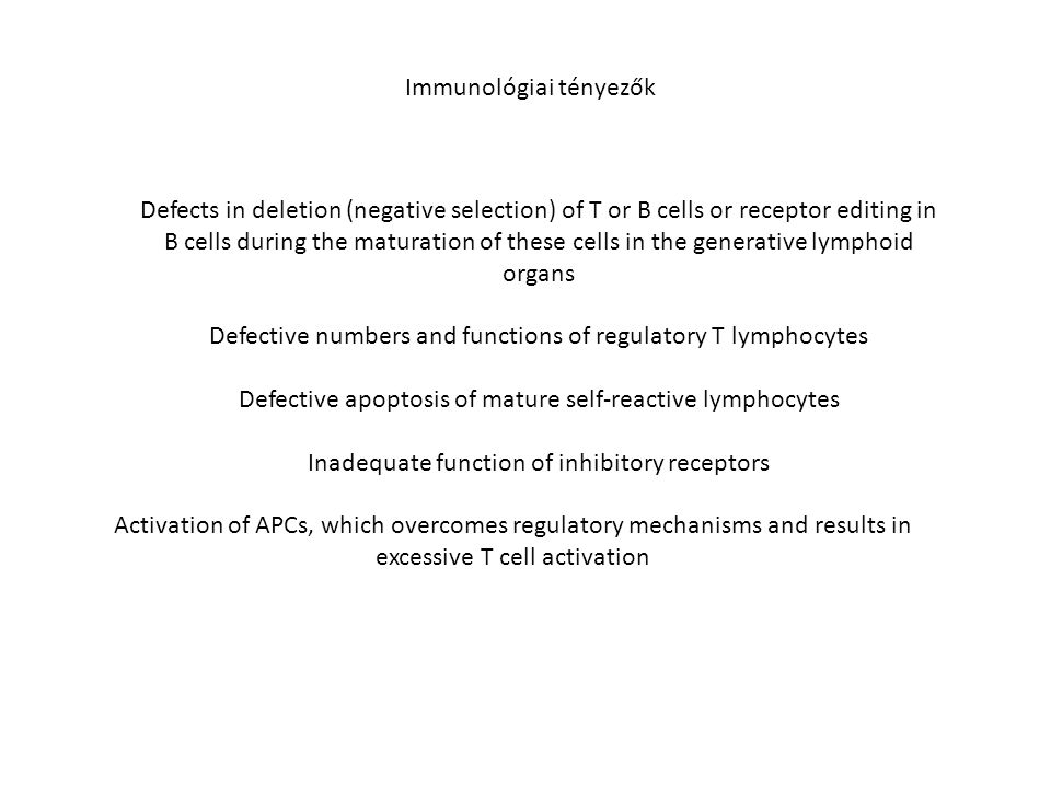 Immunológiai tényezők