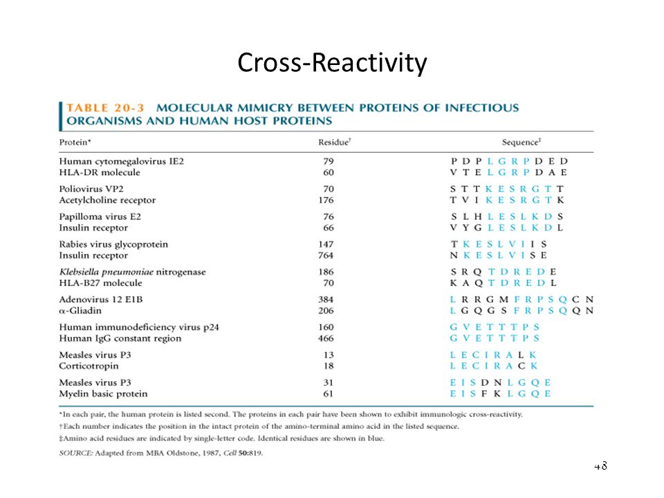 Cross-Reactivity 48
