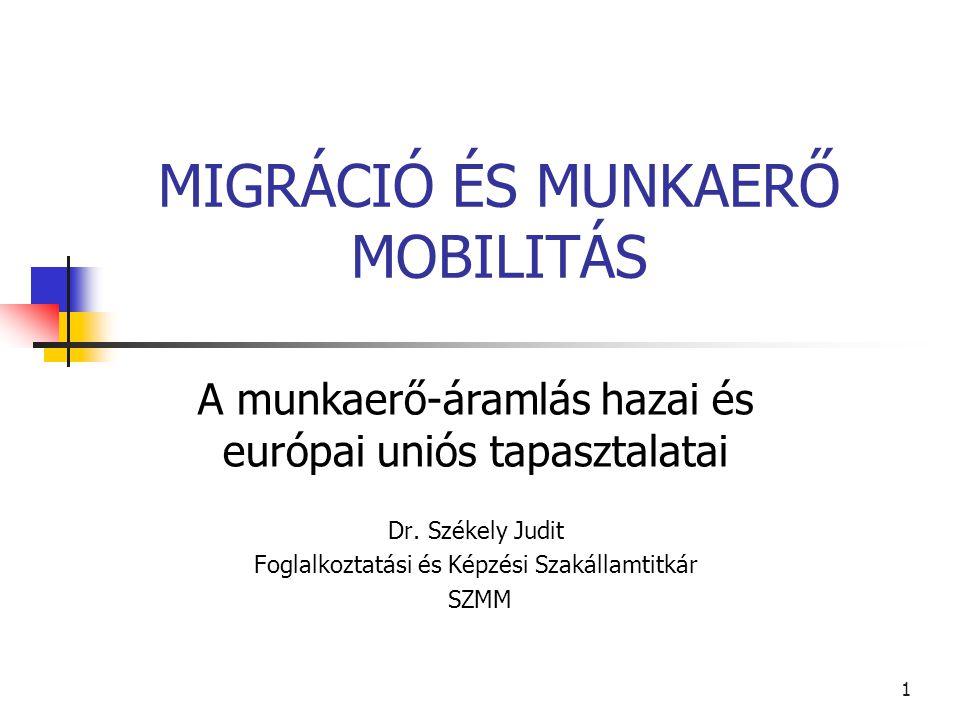 MIGRÁCIÓ ÉS MUNKAERŐ MOBILITÁS
