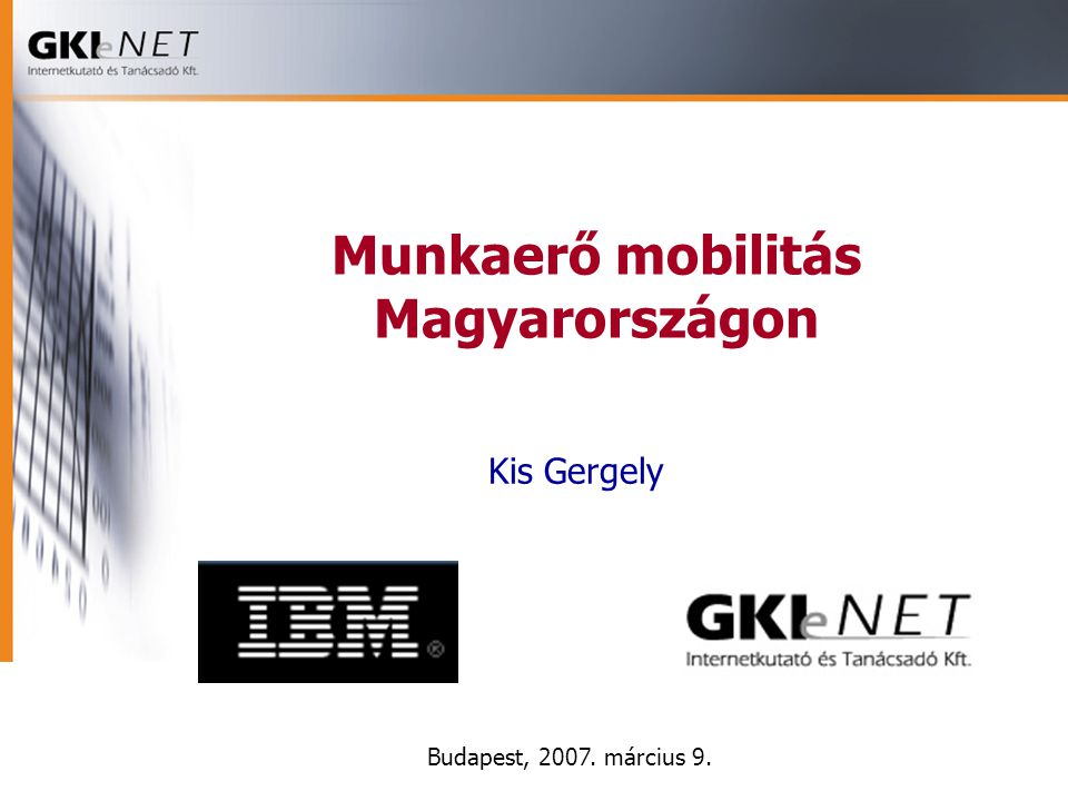 Munkaerő mobilitás Magyarországon