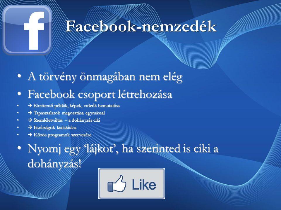 Facebook-nemzedék A törvény önmagában nem elég