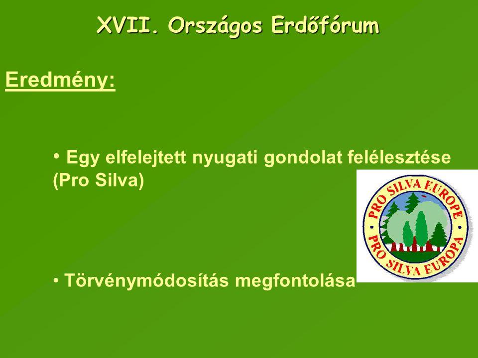 XVII. Országos Erdőfórum
