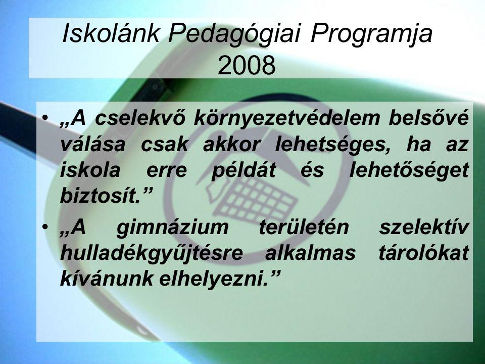 Iskolánk Pedagógiai Programja 2008