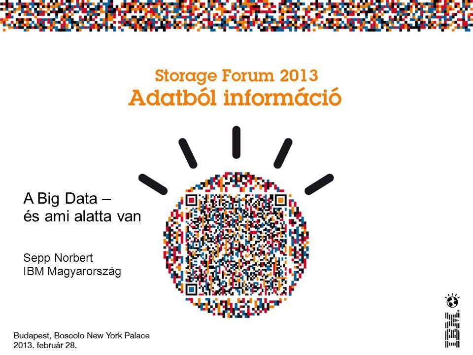 A Big Data – és ami alatta van Sepp Norbert IBM Magyarország