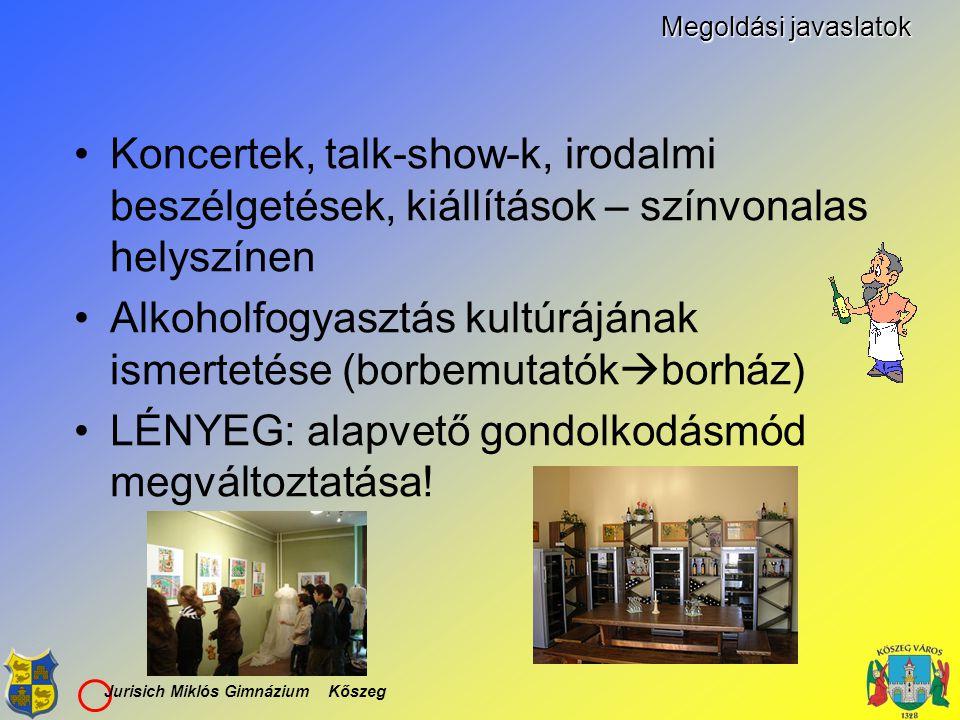 Alkoholfogyasztás kultúrájának ismertetése (borbemutatókborház)