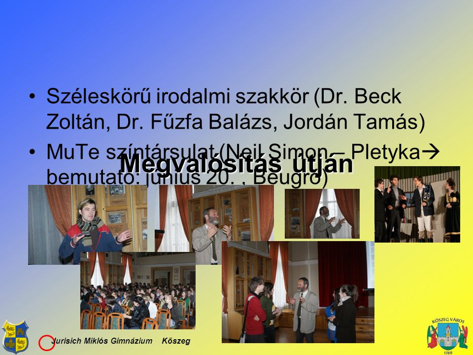 Széleskörű irodalmi szakkör (Dr. Beck Zoltán, Dr