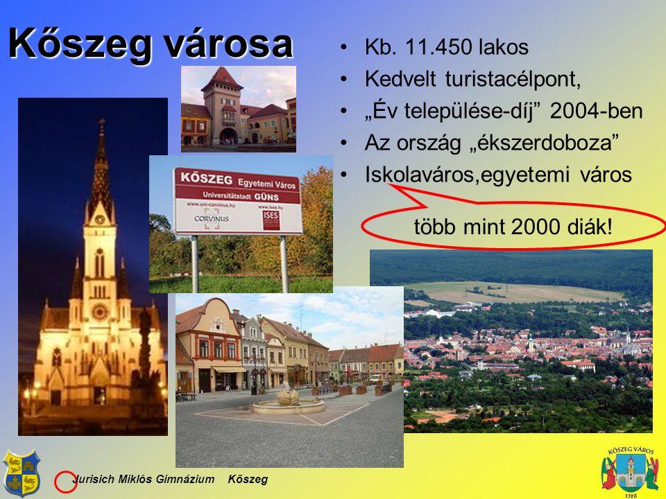 Kőszeg városa Kb. 11.450 lakos Kedvelt turistacélpont,