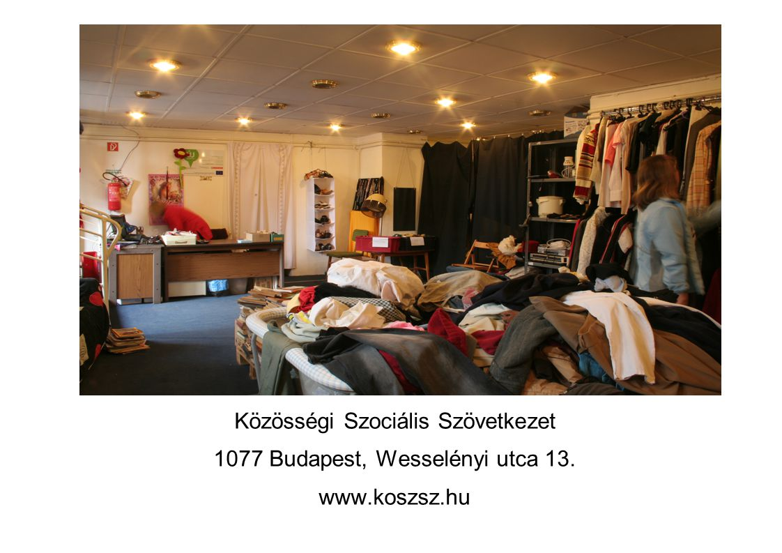 Közösségi Szociális Szövetkezet 1077 Budapest, Wesselényi utca 13.