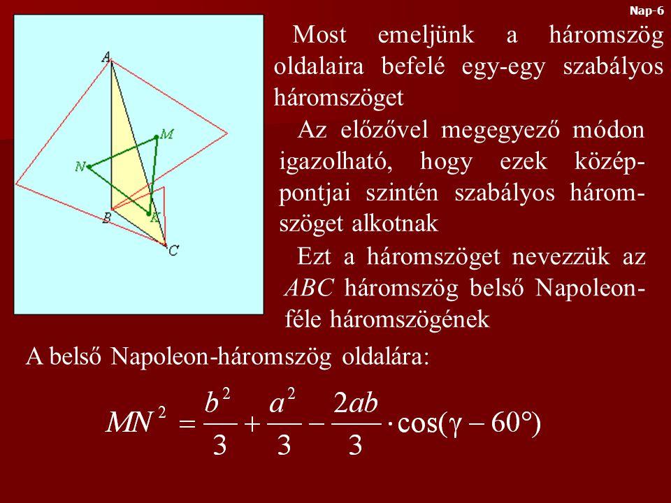 A belső Napoleon-háromszög oldalára: