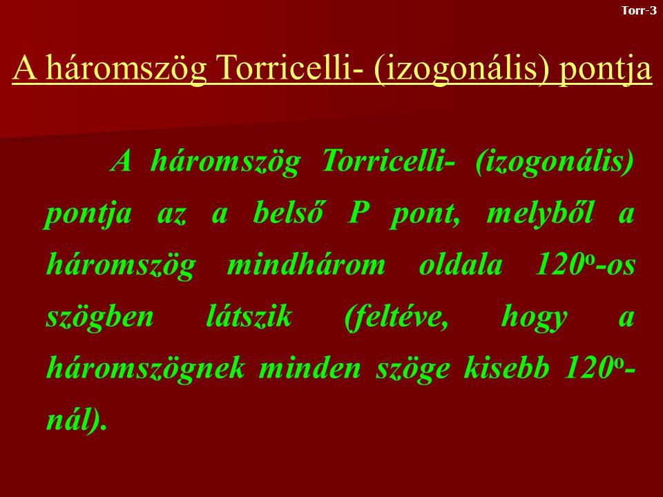 A háromszög Torricelli- (izogonális) pontja