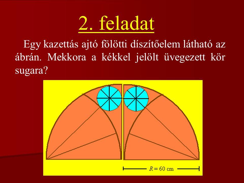 2. feladat Egy kazettás ajtó fölötti díszítőelem látható az ábrán.