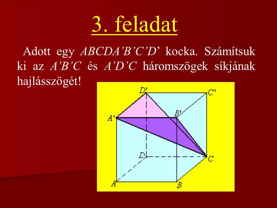 3. feladat Adott egy ABCDA'B'C'D' kocka.