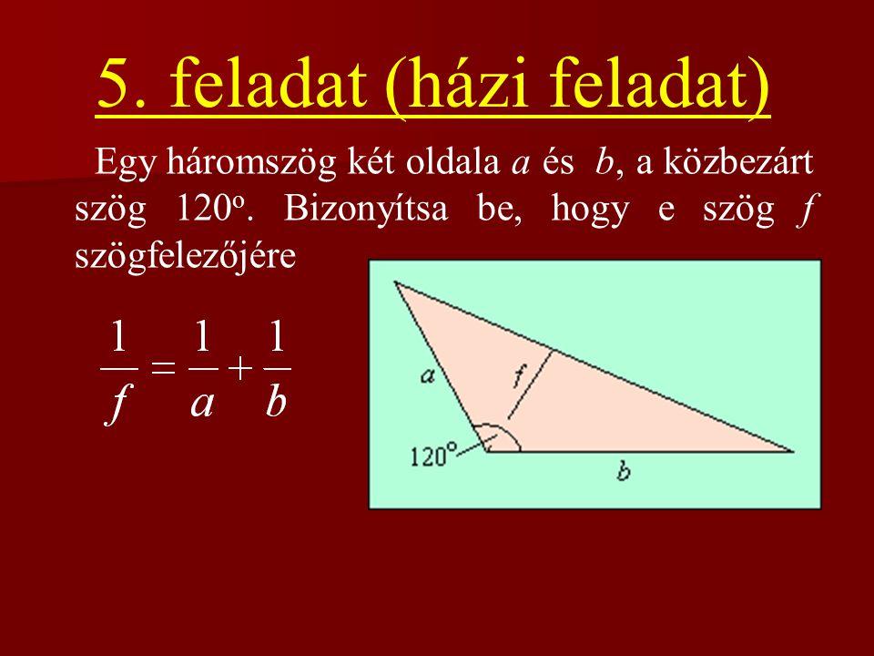 5. feladat (házi feladat)