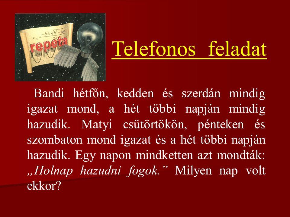 Telefonos feladat