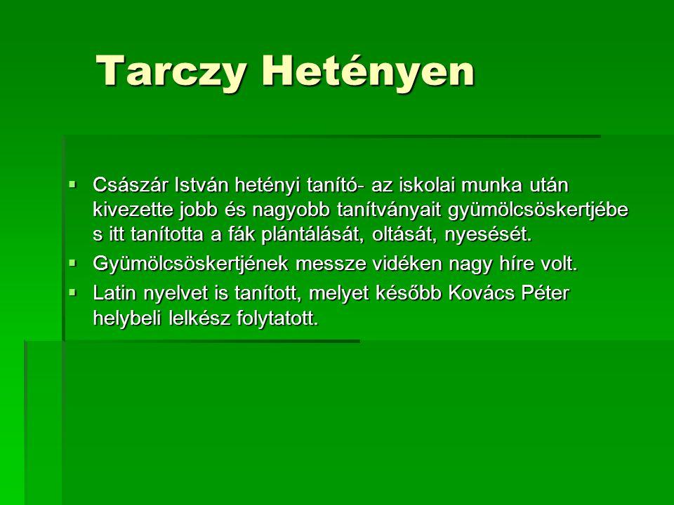 Tarczy Hetényen