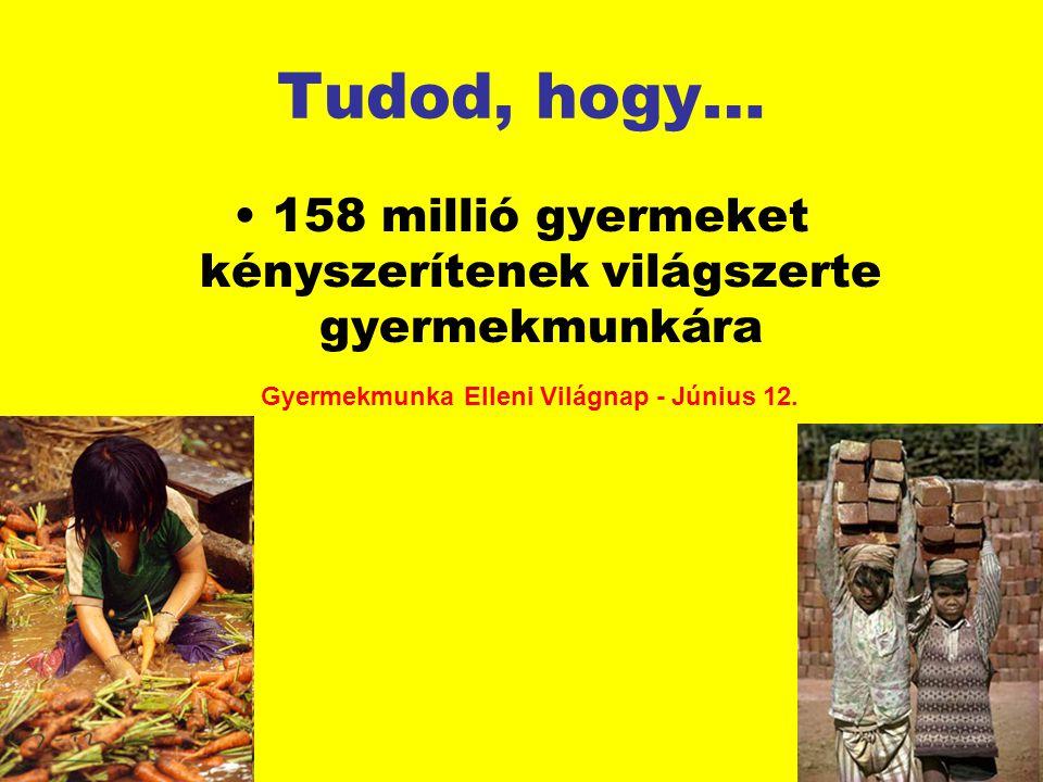 158 millió gyermeket kényszerítenek világszerte gyermekmunkára