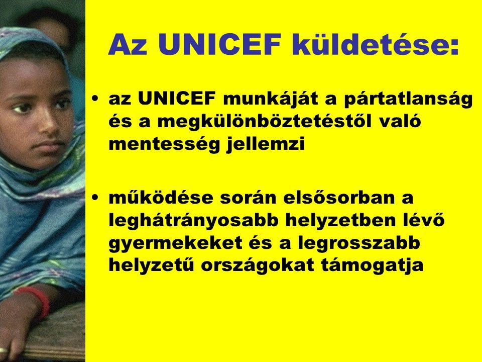 Az UNICEF küldetése: az UNICEF munkáját a pártatlanság és a megkülönböztetéstől való mentesség jellemzi.