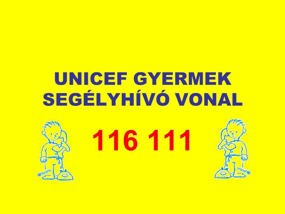 UNICEF GYERMEK SEGÉLYHÍVÓ VONAL