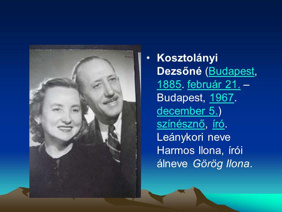 Kosztolányi Dezsőné (Budapest, 1885. február 21. – Budapest, 1967