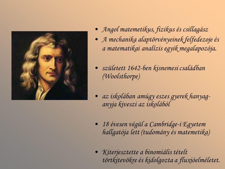 Angol matemetikus, fizikus és csillagász