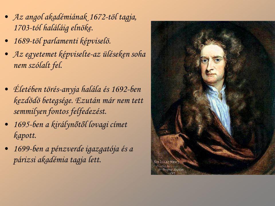 Az angol akadémiának 1672-töl tagja, 1703-tól haláláig elnöke.