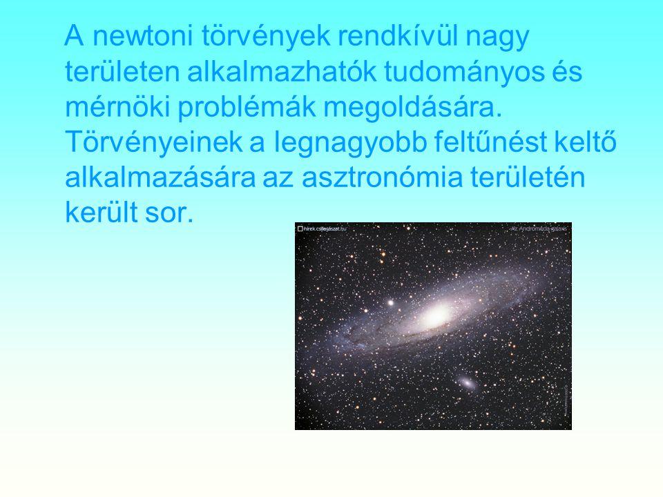 A newtoni törvények rendkívül nagy területen alkalmazhatók tudományos és mérnöki problémák megoldására.