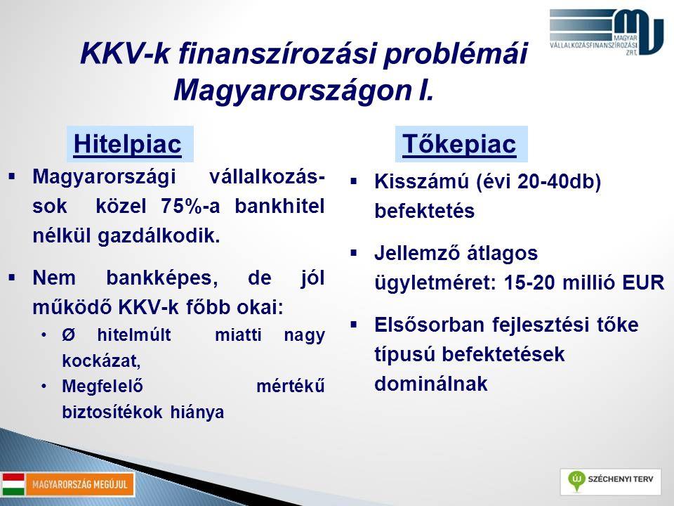 KKV-k finanszírozási problémái Magyarországon I.