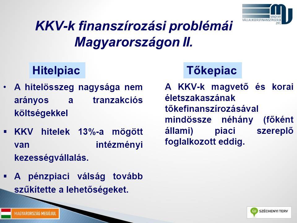KKV-k finanszírozási problémái Magyarországon II.