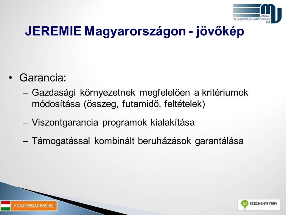 JEREMIE Magyarországon - jövőkép